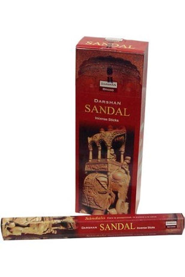 女の子代理店住居Sandal (Sandalwood) - 120 Sticks Box - Darshan Incense