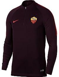 2018-2019 AS Roma Nike Training Drill Top (Burgundy)