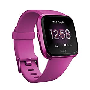 Fitbit フィットビット フィットネススマートウォッチ VersaLite 耐水50m 着信/SMS/LINE/Twitter/Facebook通知 連続稼働4日以上 iOS/android対応 24時間心拍測定 睡眠&歩数&距離&カロリー記録 女性の体調管理 L/Sサイズ【日本正規品】 FB415PMPM-FRCJK
