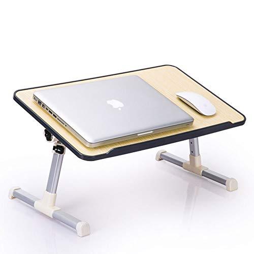 BUBM 折りたたみテーブル ノートパソコンテーブル ロータイプ ローテーブル 座卓 ちゃぶ台 折れ脚テーブル PCデスク 折り畳みテーブル ミニテーブル 机上台 高さ 角度調節可能 軽量 多機能 ベッド ソファ オフィス 食事 利用可52*30CM