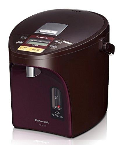 パナソニック 電気ポット 2.2L 真空断熱 省エネ保温 お好み温度調節 給湯量(4段階+コーヒー用) コードレス給湯 ブラウン NC-SU224-T