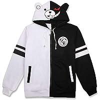 Unisex Danganronpa Monokuma Cosplay Costume Anime Hoodie Sweatshirt Long Sleeve Casual Jacket