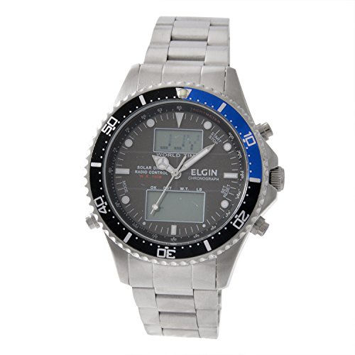 [エルジン]ELGIN 腕時計 ワールドタイム ソーラー電波...