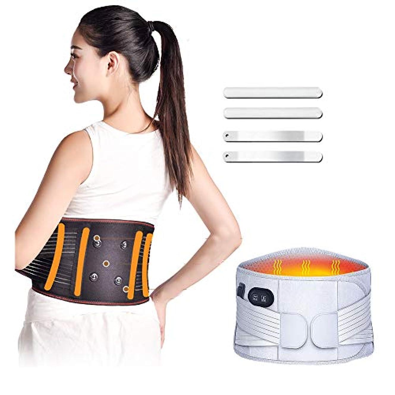 背中サポート暖かいベルト/腰背部温熱療法コート/マッサージ暖かいベルト、腹痛とストレスを和らげる
