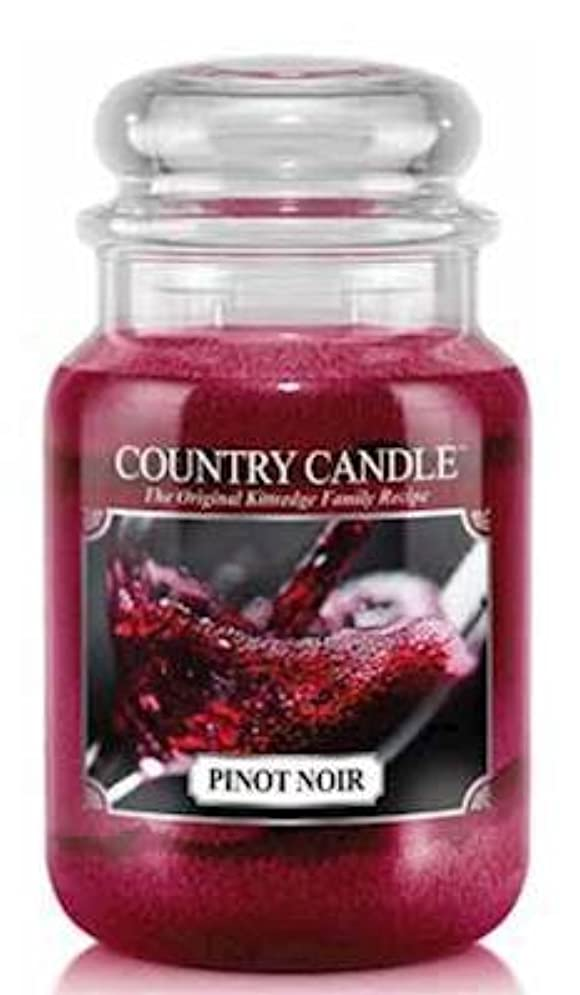 パスタ焦げコメントPinot Noir Country Candle Large 23oz 2-wick香りつきJar Candle