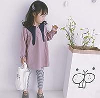 初秋韓国風キッズ服 可愛いキッズ服ワンピース 80cm-120cm