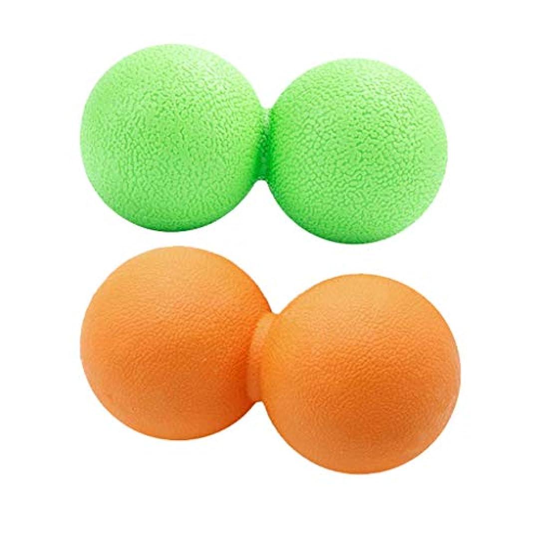 泥テメリティやがてdailymall 2xピーナッツマッサージボール筋膜リリーストリガーポイントディープティッシュマッサージャー