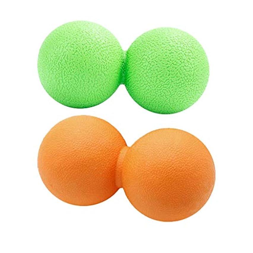 雇用慣らすマイクdailymall 2xピーナッツマッサージボール筋膜リリーストリガーポイントディープティッシュマッサージャー