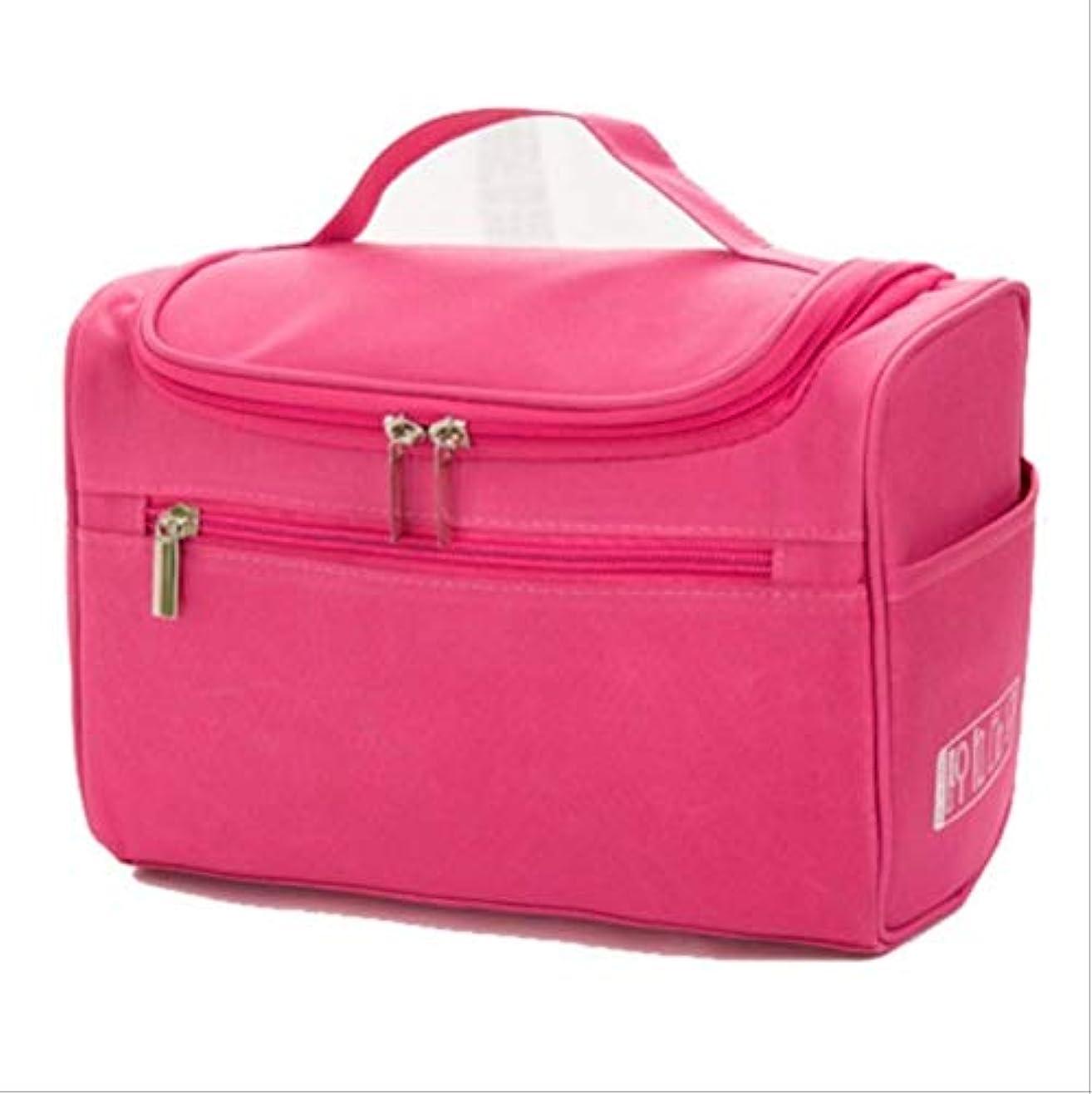 セクタフローティング石化する女性用大型防水化粧品バッグ旅行用化粧品バッグの構成には化粧品が必要ですローズレッド
