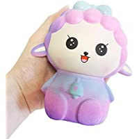 frunalte Slow Rising Squishiesおもちゃ香りつきSqueeze Sheep Stress ReliefトイNice Gift For Kids &大人Squeezing for Kids子供大人Toddlers Funny Sheepデザイン A ピンク ZYJ-123