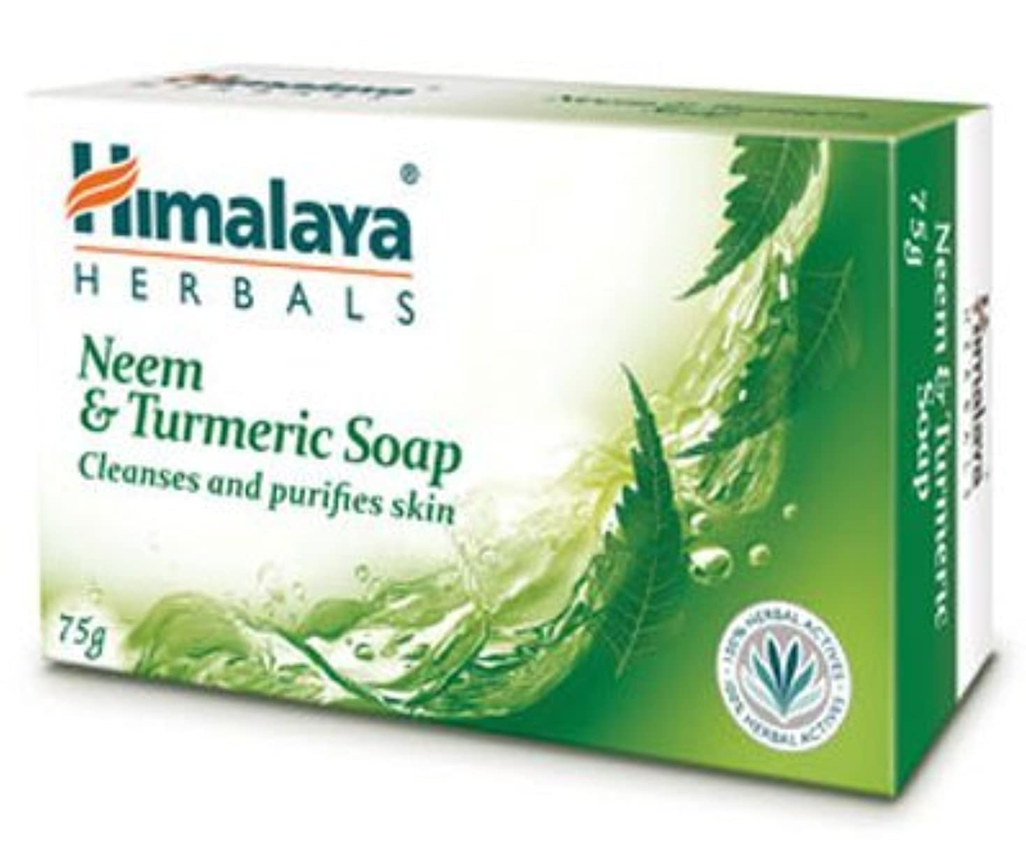 非武装化苦しめる杖Himalaya Neem & Turmeric Soap - 125gm