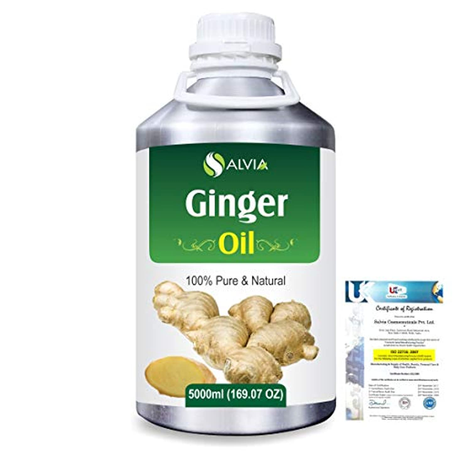 なんでも例外一握りGinger (Zingiber officinale) 100% Natural Pure Essential Oil 5000ml/169fl.oz.