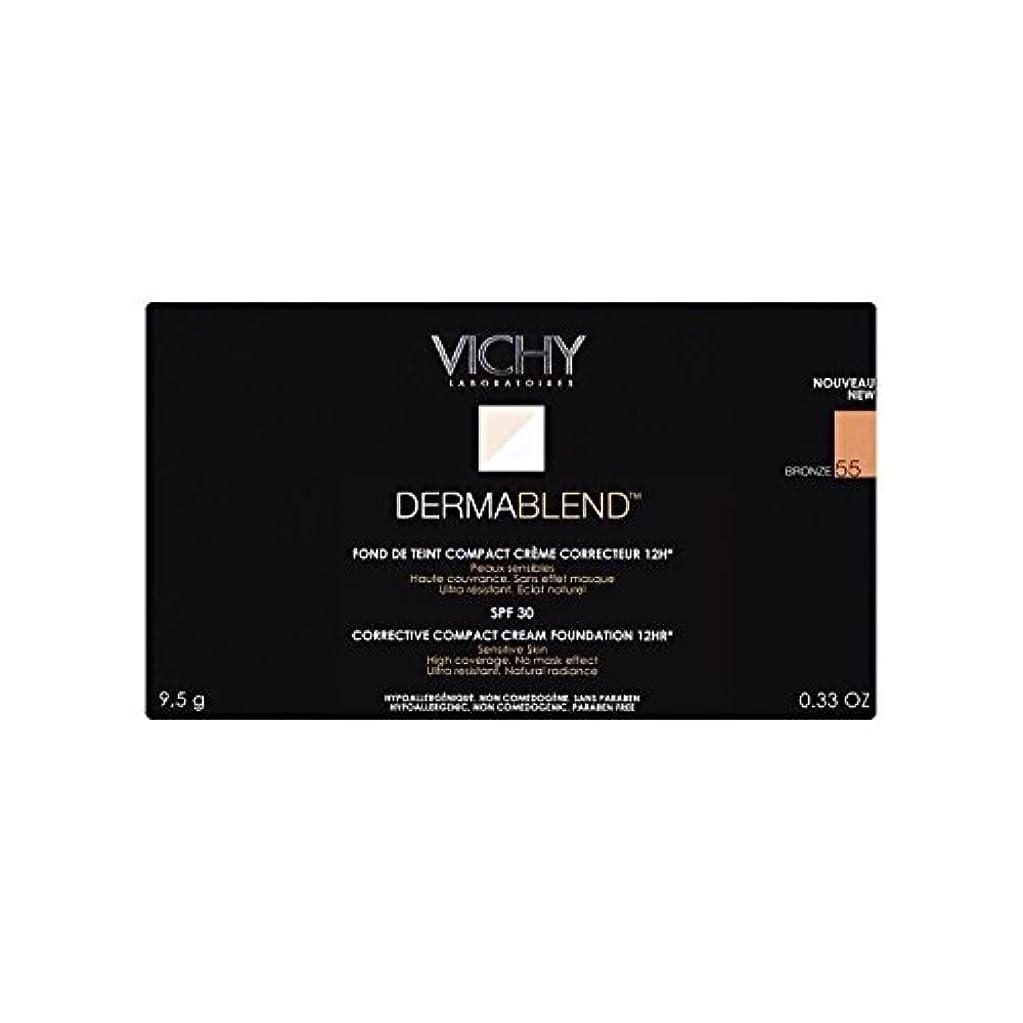 変色する魔女レーザヴィシー是正コンパクトクリームファンデーションブロンズ x2 - Vichy Dermablend Corrective Compact Cream Foundation Bronze (Pack of 2) [並行輸入品]