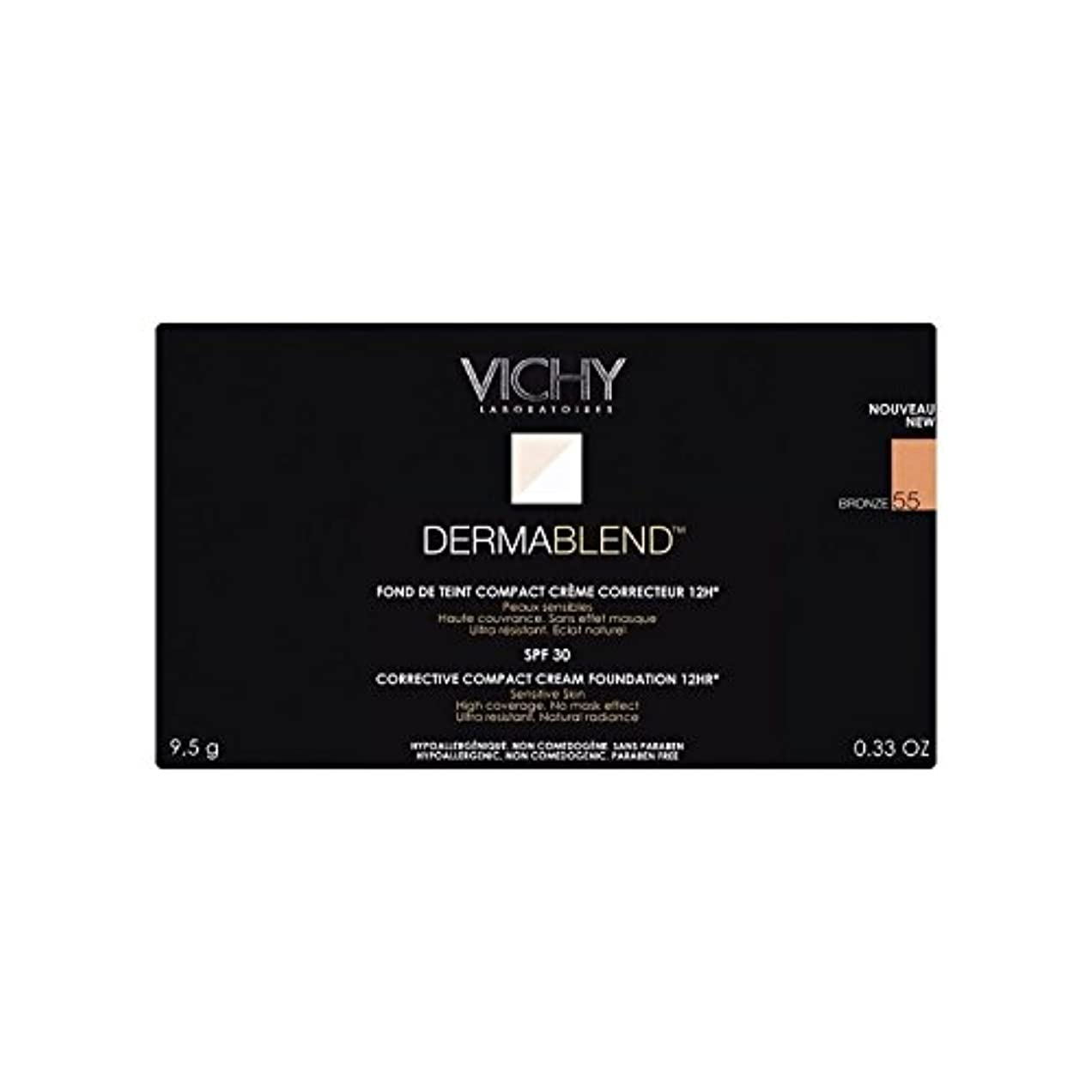 スカーフ主流署名ヴィシー是正コンパクトクリームファンデーションブロンズ x4 - Vichy Dermablend Corrective Compact Cream Foundation Bronze (Pack of 4) [並行輸入品]