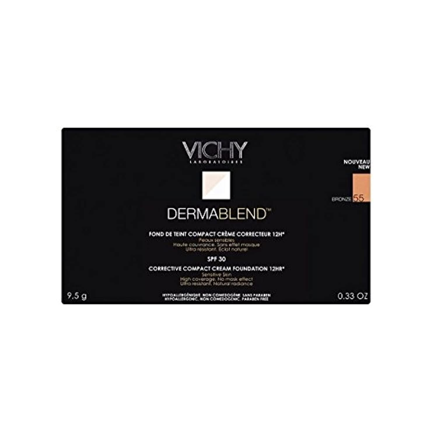 座る提供パネルヴィシー是正コンパクトクリームファンデーションブロンズ x4 - Vichy Dermablend Corrective Compact Cream Foundation Bronze (Pack of 4) [並行輸入品]