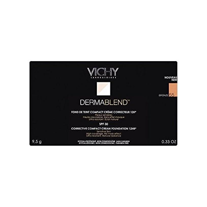 手のひらビーム書き込みヴィシー是正コンパクトクリームファンデーションブロンズ x2 - Vichy Dermablend Corrective Compact Cream Foundation Bronze (Pack of 2) [並行輸入品]