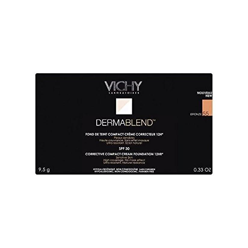 編集者柔和前方へVichy Dermablend Corrective Compact Cream Foundation Bronze (Pack of 6) - ヴィシー是正コンパクトクリームファンデーションブロンズ x6 [並行輸入品]