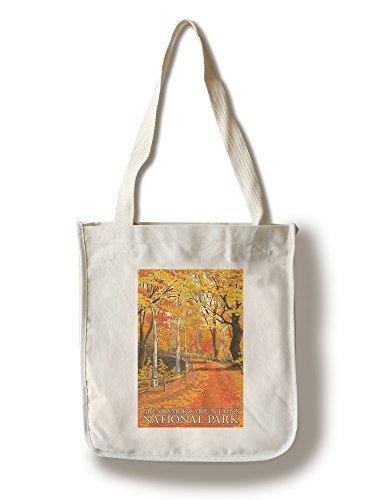 グレート・スモーキー山脈国立公園、テネシー州–Fall Colors Canvas Tote Bag LANT-46494-TT
