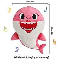 ToysPlushCute ソフトぬいぐるみ ベビーシャークフィッシュ人形 音楽サウンド かわいい動物のぬいぐるみ 歌う赤ちゃん サメの歌 ギフト 子供 女の子 男の子