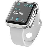 X-Doria Apple Watch 3/2 / 1 ケース (38mm) DEFENSE EDGE シリーズ プレミアム アルミニウム x TPU バンパー フレーム ハイブリッド (2層構造) スリム ケース 【 シルバー 】