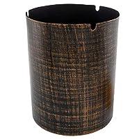 シンプルでスタイリッシュな防風灰皿コラム付きシガーアクセサリーバーKTV人格灰皿 HENGXIAO (色 : Bronze-color, サイズ さいず : 12*14.2cm)