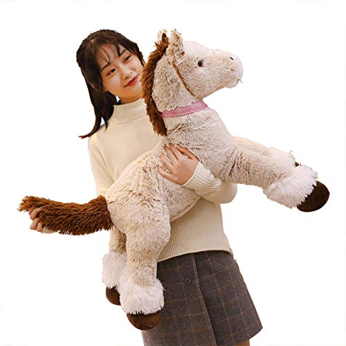 BEARS'HOMEぬいぐるみ 馬 クマ コストコ 巨大 テディベア 抱き枕 クリスマス 誕生日 プレゼント 可愛い インテリア 撮影道具 添い寝 (120cm)
