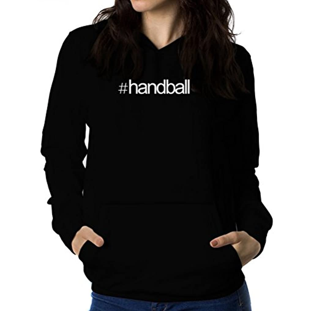 塊ナイトスポット自宅でHashtag Handball 女性 フーディー