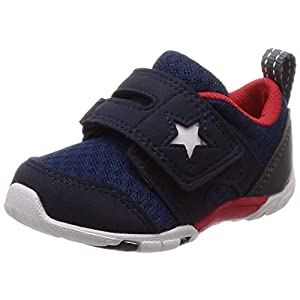 [ムーンスター] ベビー 4大機能 通園 運動会 靴 足育 足に優しい ゆったり MS B88 ネイビー 14.5 cm 2E