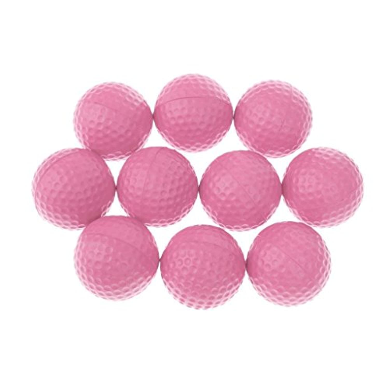 FidgetFidget トレーニングボール ソフトゴム ポリウレタンフォーム ゴルフ練習 - ピンク マジカル 10個