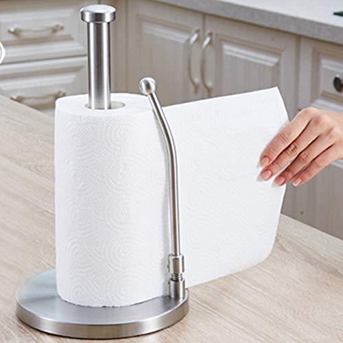 ペーパーホルダー 、towel holder、 ステンレス 製 キッチンペーパーホルダー 固く丈夫な銀色のキッチンペーパーホルダー