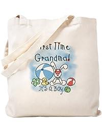CafePress – おばあちゃんBaby Boyトートバッグ – ナチュラルキャンバストートバッグ、布ショッピングバッグ S ベージュ 0273781427DECC2