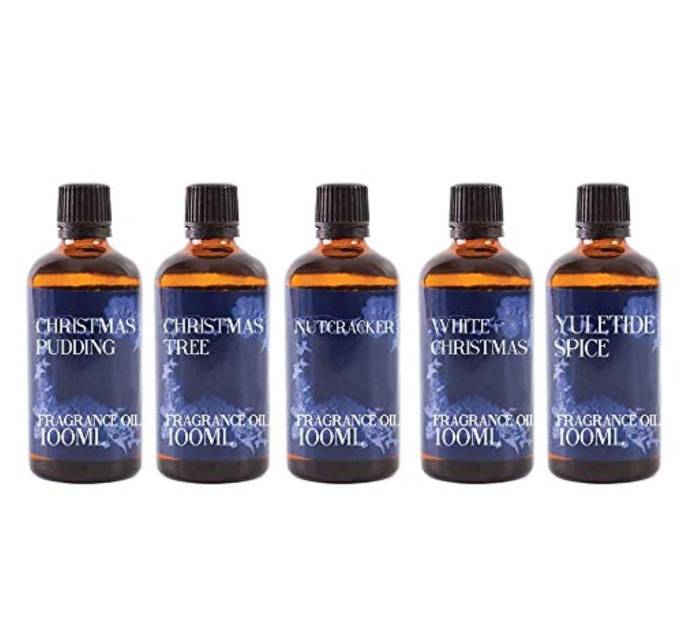 軍隊配分限界Mystic Moments | Fragrant Oil Starter Pack - Christmas Oils - 5 x 100ml