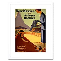 Travel Tourism New Mexico Native American Train Framed Wall Art Print 旅行観光メキシコネイティブアメリカ人列車壁