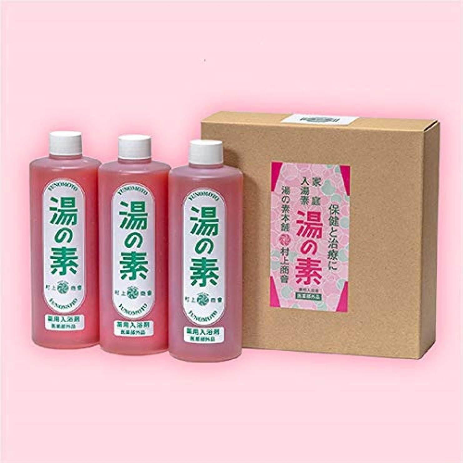 赤面概要無視薬用入浴剤 湯の素 [医薬部外品] 490g(約50回分) 3本セット