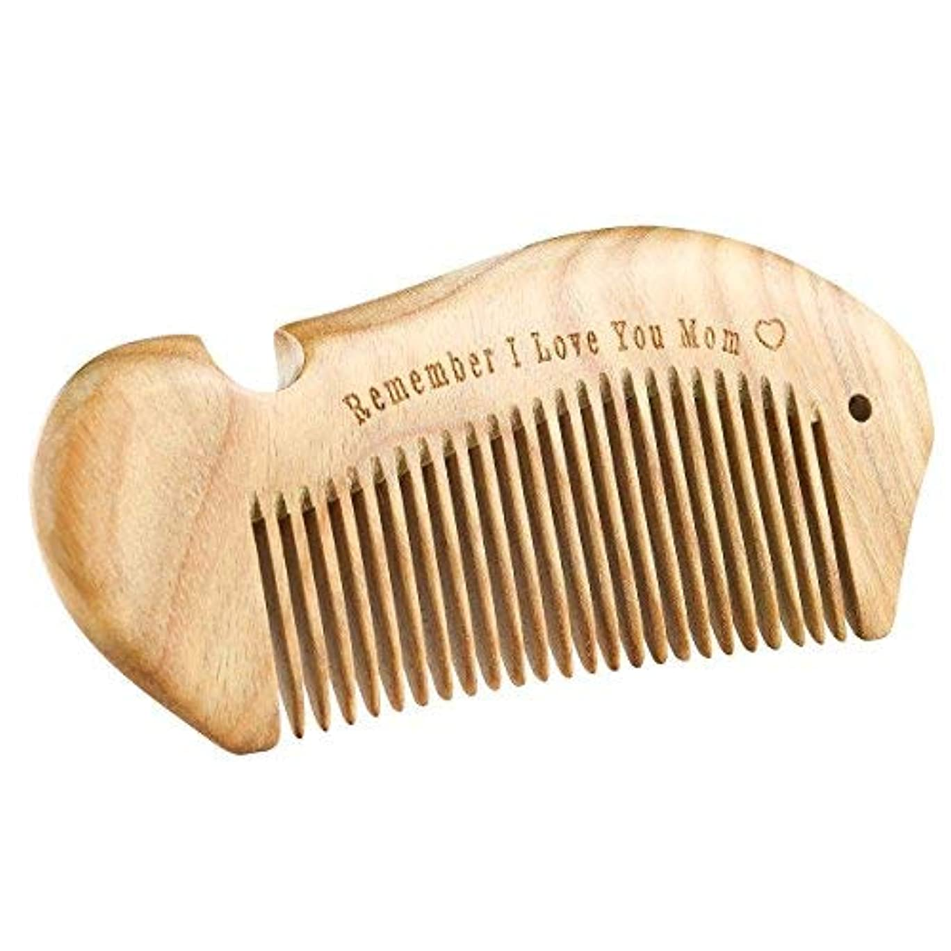 として慎重にこするi.VALUX Handmade Sandalwood Hair Comb,No Static Natural Aroma Wood Comb for Curly Hair [並行輸入品]