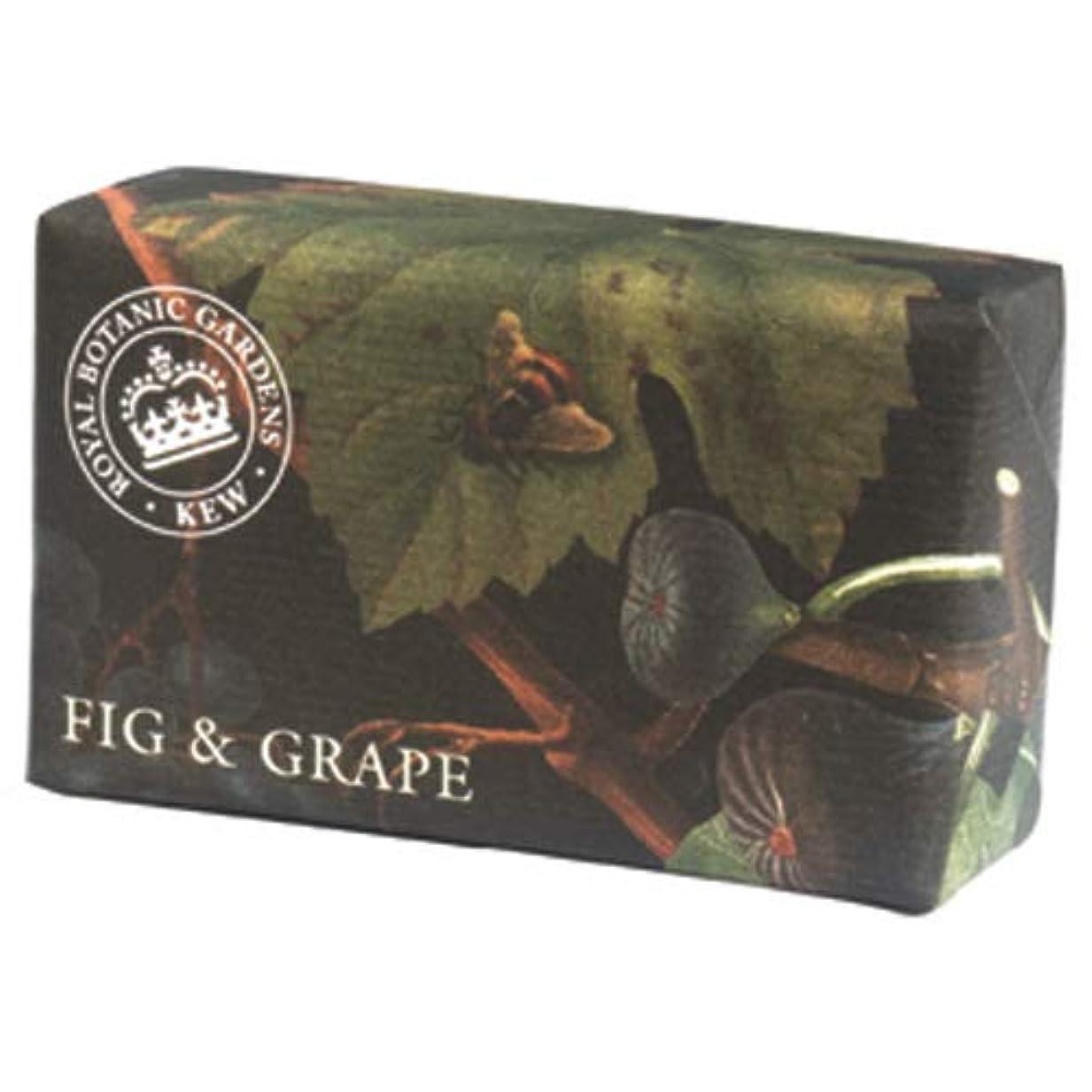規模噛む真珠のような三和トレーディング English Soap Company イングリッシュソープカンパニー KEW GARDEN キュー?ガーデン Luxury Shea Soaps シアソープ Fig & Grape フィグ&グレープ