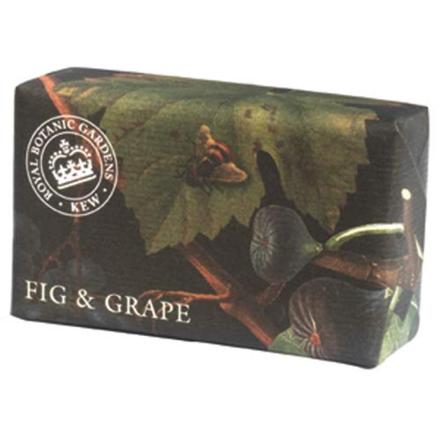 眉をひそめるあなたが良くなります無意味三和トレーディング English Soap Company イングリッシュソープカンパニー KEW GARDEN キュー?ガーデン Luxury Shea Soaps シアソープ Fig & Grape フィグ&グレープ