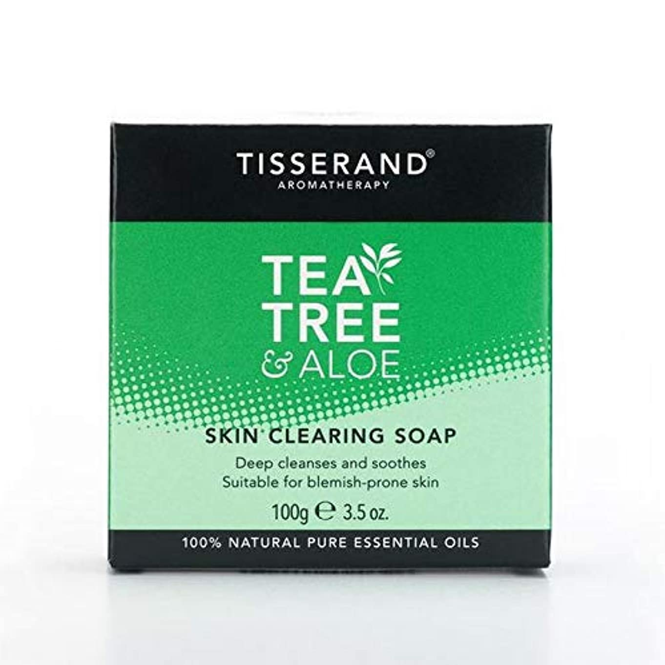 ジェーンオースティン犯す鷲[Tisserand ] 固形石鹸100グラムをクリアティスランドティーツリー&アロエスキン - Tisserand Tea Tree & Aloe Skin Clearing Soap Bar 100g [並行輸入品]
