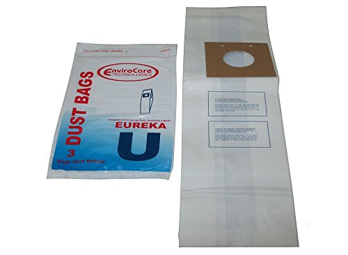 Eureka 2 Ply UprightタイプU用紙バッグ3 PK # 308sw