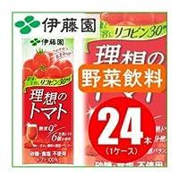 【まとめ買い】伊藤園 理想のトマト 200ml×48本(24本×2ケース) 紙パック ds-1456777