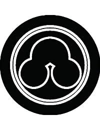 家紋シール 総陰丸に州浜紋 布タイプ 直径40mm 6枚セット NS4-2128