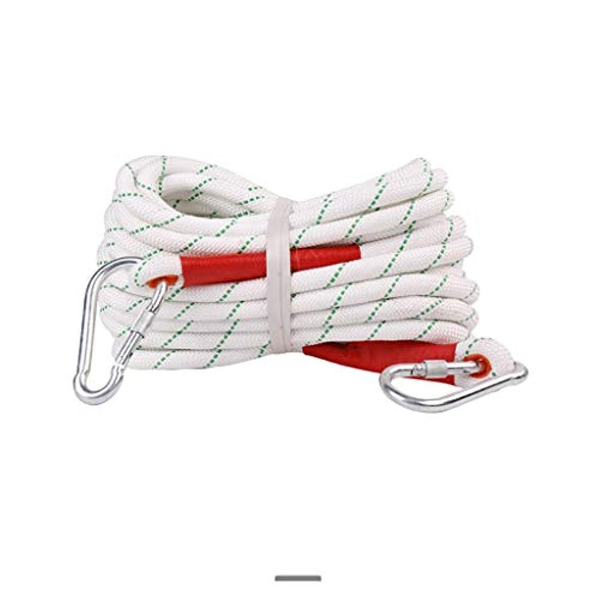 ログ国家古代クライミングロープ ポリエステル製ホワイトレスキューロープ、マルチサイズのオプションの直径20mmの安全ロープ、耐摩耗性ポリプロピレン屋外ロープ付き (色 : 18mm-60m)