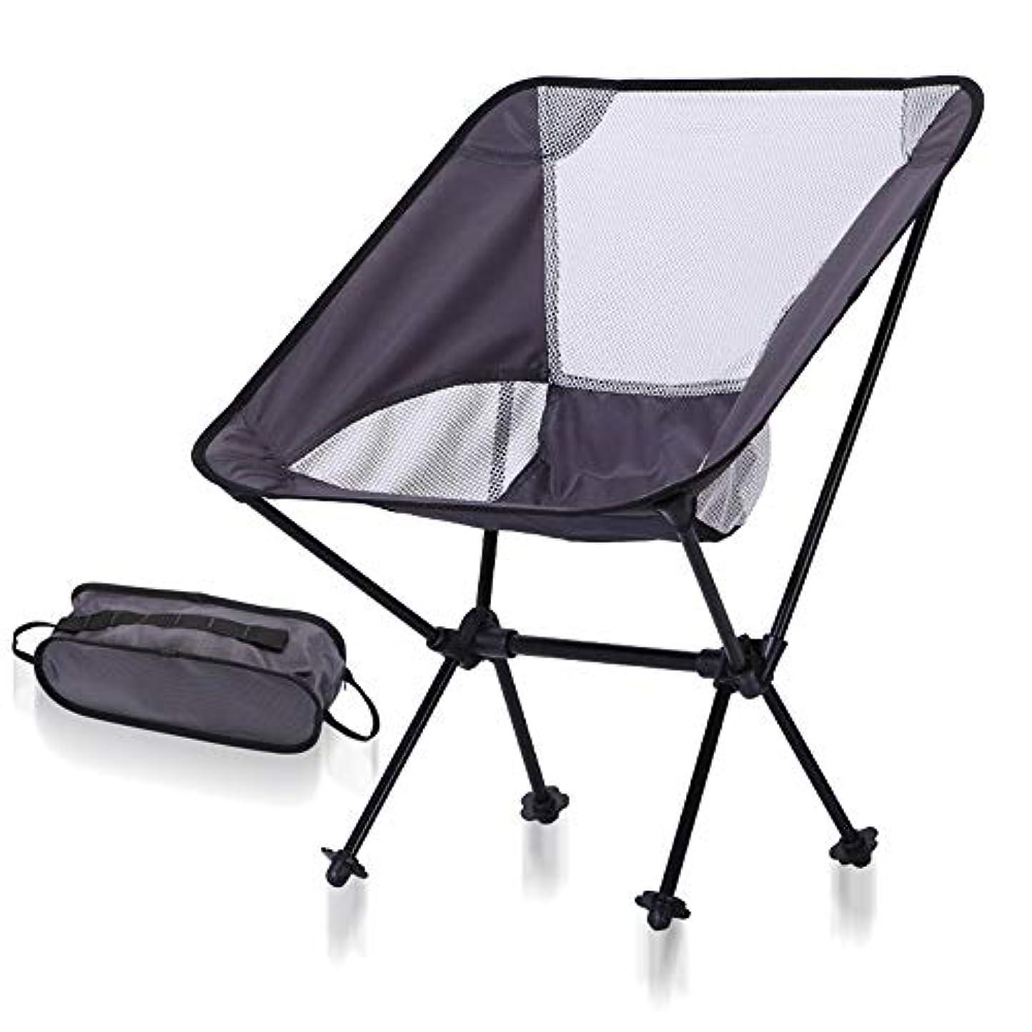 副目覚める漏斗Bycws大人用キャンプチェア、ビーチチェアポータブル、軽量折りたたみ式バックパッキングチェア付きキャリーバッグ