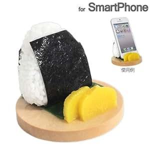 [各種スマートフォン対応]食品サンプルスタンド(おにぎり/のり)
