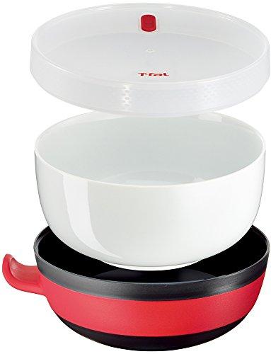 ティファール 電子レンジ調理器具 クイックボウル ブラウン&レッド キッチンツール 【チャネル限定】 K21501