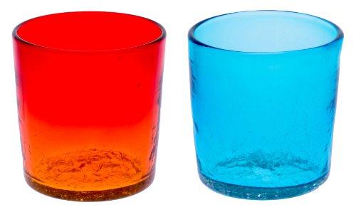 ロックグラス2個セット(オレンジ・水)