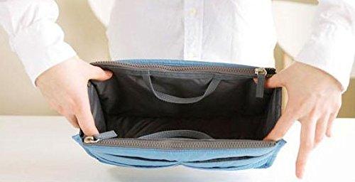 【バッグインバッグ】ちょっとした外出や旅行、毎日カバンを変える方に便利 レッド