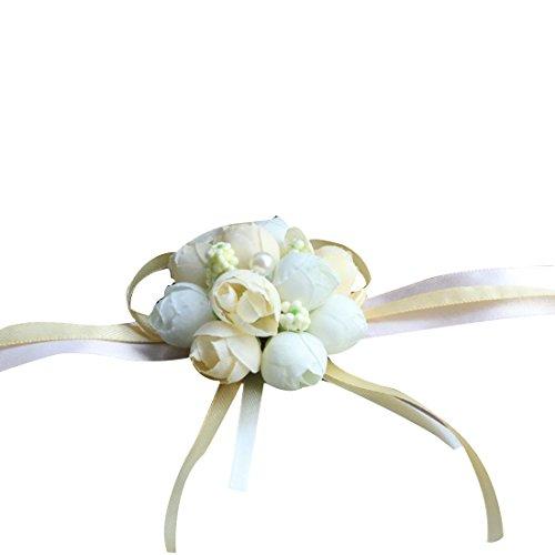 手首のコサージュ 結婚式 シルク ブライダル 花嫁 ブライド...