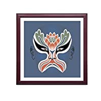 XUEPING 現代美術キャンバスプリント,キャンバス印刷,リビングルームの研究ベッドルームのレストランのバーレストランカフェの壁の装飾北京オペラ12米紙のペンダント (色 : I, サイズ さいず : W40cm×40cm)