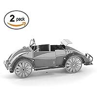 メタルステンレススチール3dパズルモデルキットBeatles車、注意、忍耐力運動、アートと装飾